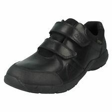 Clarks niño CUERO CIERRE ADHESIVO Correa Escuela Zapatillas Zapatos Formales