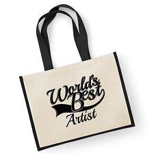 World's Best Artist Cadeau Jute Shopping Cabas Sac