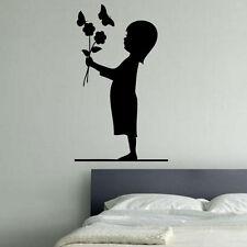 Flower Girl Decal Vinyl Wall Sticker Art Kids Room Boys Girls Décor