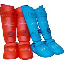 Arawaza Paratibia/Piede protezione Approved WKF colore rosso o blu