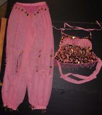 NWOT 2 Pc Pink BELLY DANCER Bra Halter Top & Pants Ladies Small Medium Adult
