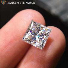 White D Color VVS Princess Cut Loose Moissanite diamond Stone with certificate