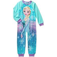 Disney Frozen Girls 1 piece Blanket Sleepwear Sleeper New 10-12 L Fleece pajamas