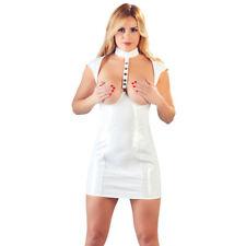 White Vinyl Cupless Dress (reduced price)