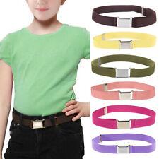 1pc Children Kids Waist Belt Elastic Adjustable Waistband Buckle Canvas Belt