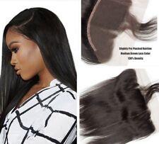 7A Virgin Human Hair Ear To Ear 13x4 Peruvian Straight Full Lace Frontal Closure