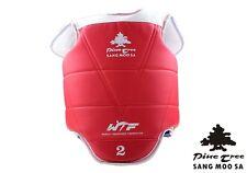 PINE TREE Taekwondo Weste WTF Kampfweste Wendeweste rot blau TKD Sparring Guard