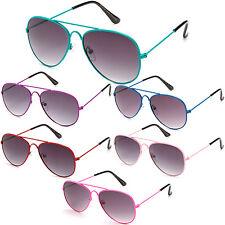 Kids Sunglasses Aviator Style Fashion Cute Girls Boys Sunnies New KP2051M multi