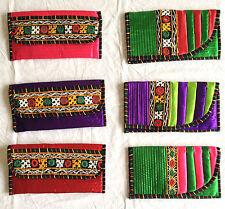 Artigianato Etnico Indiano Vintage Wallet Clutch mobile Multi Colore Borsa Da Sera