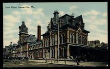 Postcard KANSAS CITY MO  Union Depot 1907
