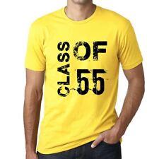 Class of 55 Grunge Homme T-shirt Jaune Cadeau D'anniversaire