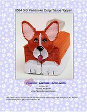 Pembroke Welsh Corgi Dog 3-D Tissue Topper-Plastic Canvas Pattern or Kit