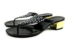 Edle Damen Schuhe Zehentrenner Sandalen Gr.36-41 Strass Schwarz A.9426 SuperMode