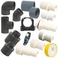 90° Sandfilter PVC-Rohr Teichfilter Poolpumpe 10 Stück PVC-Winkel 50 mm