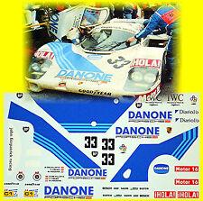 Porsche 956 Danone LeMans 1986 #33 De Vilotta Velez Fouche 1:24 Decal Abziehbild