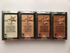 Wet n Wild MegaGlo Highlighting Platinum, Gold, Bronze, Rose Highlighter Bar