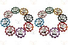Pair of eXotic CNC Jockey Wheels in 8 Colours for Rear Mech Derailleur (2 Pcs)
