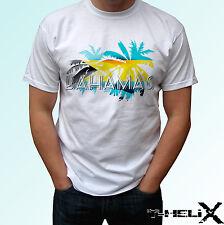Bahamas palm flag - white t shirt holiday top design mens womens kids baby