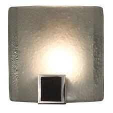 Pocket Contemporary Modern Glass Wall Sconce Hologen Light Chrome Black