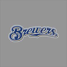 Milwaukee Brewers #3 MLB Team Logo Vinyl Decal Sticker Car Window Wall Cornhole