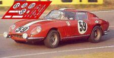 Calcas Ferrari 275 GTB Le Mans 1969 59 1:32 1:43 1:24 1:18 slot decals