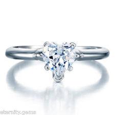 ROMANTIC NSCD Simulated 1.25 Carat Heart Cut Diamond Ring Engagement Wedding
