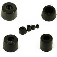 4 X Round Cabinet Black Rubber Instrument case Feet Foot Circular 5 sizes
