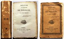 POLOGNE/RESUME DE L HISTOIRE DE../LEON-THIESSE/PARIS LECOINTE ET DUREY/1824/RARE