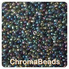 100g Gris Metálico Rainbow Vidrio Seed Beads-Elegir Tamaño 6/0 8/0 11/0 (4, 3, 2 Mm