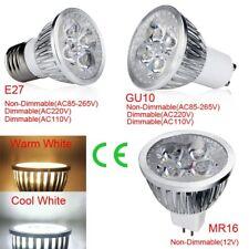 Dimable E27 GU10 12W 110V 220V LED Spot Light Lamps Bulb White/Warm White Light