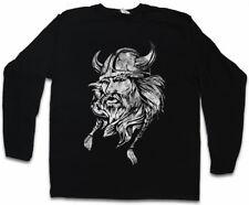 VIKING HEAD I LANGARM T-SHIRT Runes Walhalla Odin Thor Wikinger Odhins Kopf