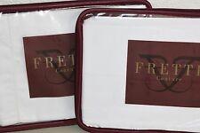 $560 New Frette Ed. Requa Jacquard All Over King Sham Pure White Sham