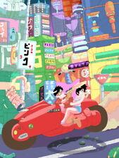 Kaneda Kei Motorcycle Tokyo Bike Akira Anime Huge Giant Print POSTER Affiche
