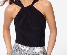 NTW Cache Black White Bodysuit SEXY Dress Top  Office Evening  XS  S  0-2-4