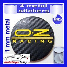 METAL STICKERS WHEELS CENTER CAPS Centro LLantas 4pcs OZ RACING 22 carbon
