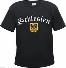 SILESIA Camiseta - Negro/BLANCO CON ESCUDO - S hasta 3xl - WROCLAW Polonia