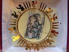 "Hummel Ornament: "" Praise To God "" Christmas 24K Gold Plate! Euc Free Shipping!"
