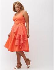 Lane Bryant Cascade Drape Dress Womens Plus 18 20 22 26 28 Thin Fabric 2x 3x  4x
