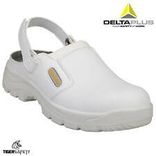 Delta Plus Maubec SBEA White Mens Steel Toe Food Safety Shoes Kitchen Clogs PPE