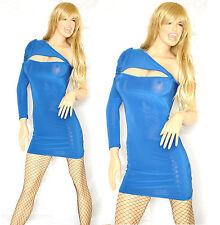 MINI ABITO donna monospalla aderente abitino vestido miniabito dress kleid V27