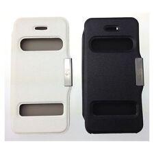 Double fenêtre smart view flip cover case pour iPhone 5/5s