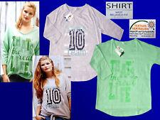 Modern Women's Shirt Leisure Shirt Shirt Tunic 3/4 Sleeve Wide Cut S & M