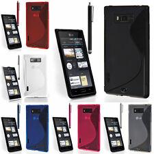 Schutz Hülle für LG Optimus L7 P700 TPU Silikon Flip Case Cover Etui Schale