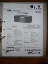 Service Manual Sony CFD-703L HiFi-Anlage,ORIGINAL