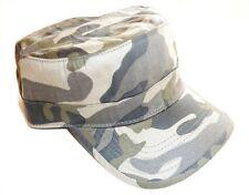 US Military Drill PAC Mens pre dissolvenza LUCE Mimetico Cotone Cappello da campo Esercito retrò anni'60