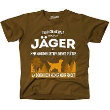 T-Shirt BRAUN JÄGER GORDON SETTER KENNT Plätze niemand FINDET JAGD Siviwonder