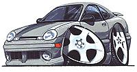 Dodge Neon Platinum Cartoon T-shirt acr expresso sxt se es r/t Sizes S-3XL