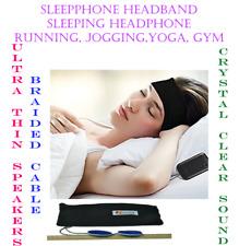 Sleep Phones Headband Sleep Headphones With UltraThin Speakers and Braided Cable
