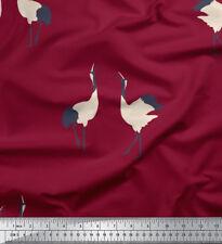 Soimoi Fabric Flying Stork Bird Decor Fabric Printed Meter - BRD-588D