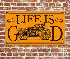 Harley Davidson Wood Sign Life is Good